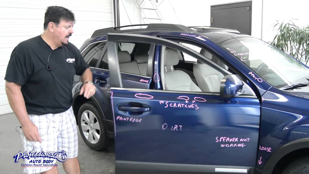 THIS CAR IS TRASHED Subaru Post Repair Inspection YouTube - Subaru auto body repair