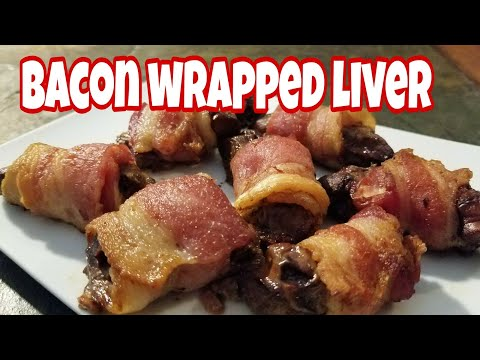KETO - Bacon Wrapped Liver -  EASY Air Fryer Recipe