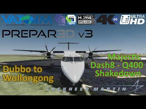Prepar3d V3 | Majestic Dash 8 Pro | Dubbo To W'gong | QLK41