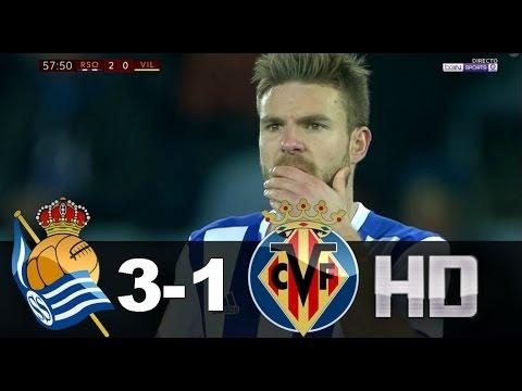 Real Sociedad vs Villarreal (3-1) RESUMEN & GOLES 04/01/17 HD