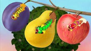 Nhăm Nhăm Nhăm Nhăm Sâu Ăn Trái Cây – Game Vui Cho Bé