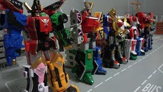Power Rangers Super Megaforce Wildforce Mini Megazord Toys 파워레인저 캡틴포스 정글포스 미니 로봇 장난감
