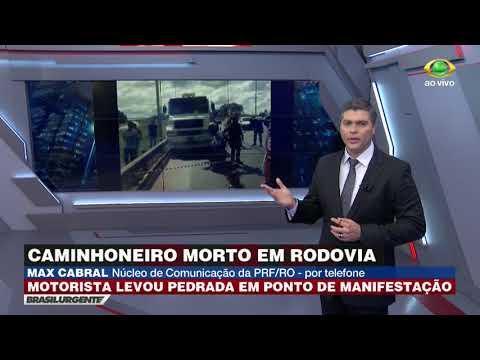 RO: Caminhoneiro é Morto Com Pedrada Em Rodovia