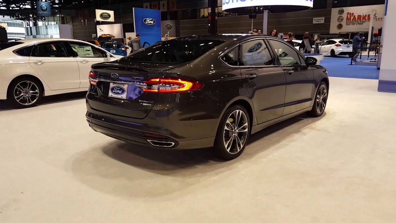 2017 ford fusion titanium exterior 2016 chicago auto show youtube