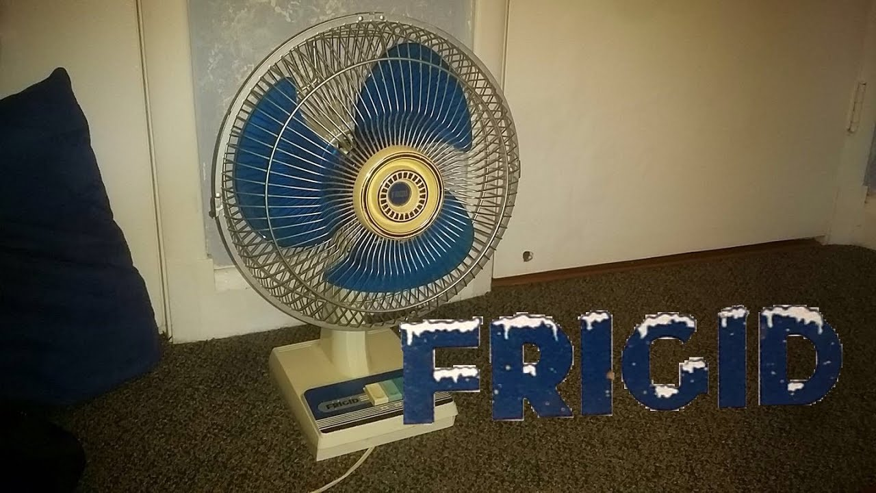 First Electric Fan : Frigid quot oscillating desk fan fd a youtube