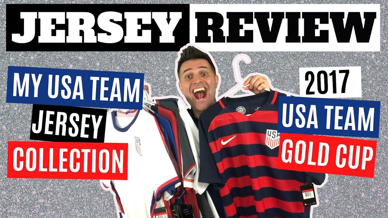 Escuchando fuegos artificiales celebrar  Nike 2017 USA TEAM Gold Cup Jersey Review + My TEAM USA Jersey/Shirt  Collection - YouTube