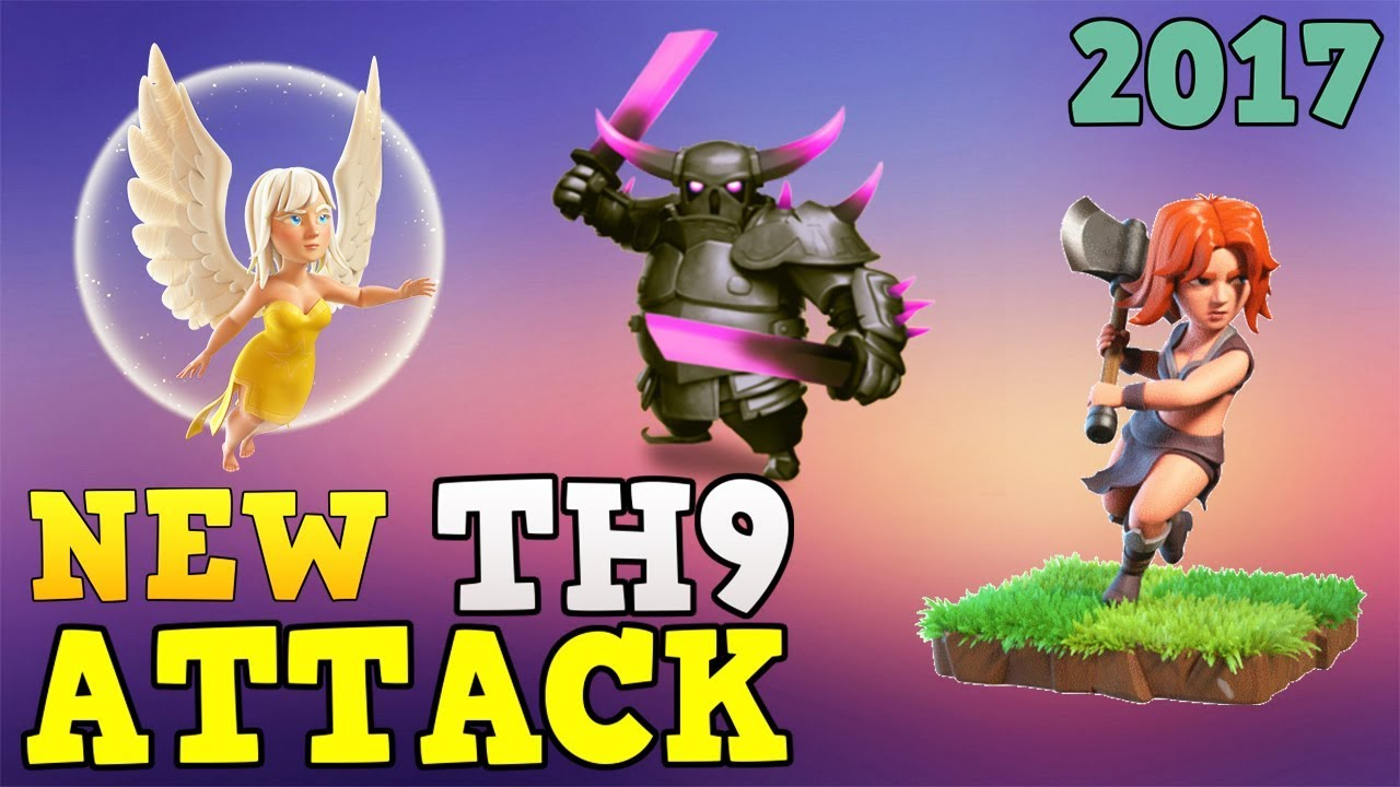 Download PEKKA WALK , VALKYRIE WALK: NEW TH9 STRONG WAR ATTACK STRATEGY 2017 |  Clash of Clans