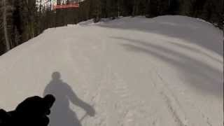 Skiing at Sunshine Village in Banff, Alberta