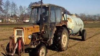 Wiosna 2014 wywóz gnojowicy i kultywatorowanie ugoru werterpów URSUS