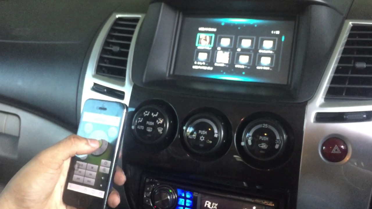 Pajero 2012 เครื่องเล่น alpine หน้าจอฟ้าเพิ่ม wifi display ...