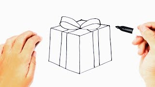 How to draw a Present Step by Step | Christmas Present Draw