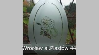 piaskowanie dekoracyine szklarz Wrocław tel.660387502