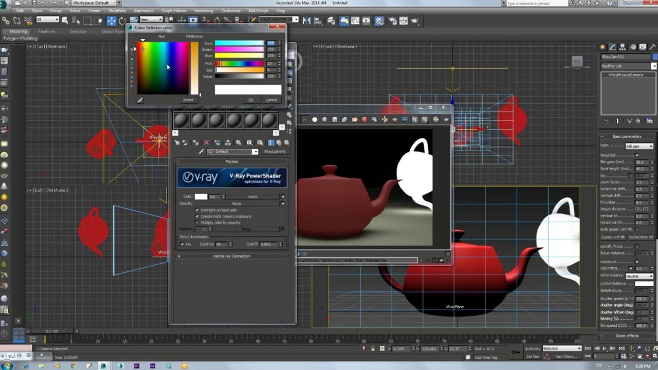 Vray light material download