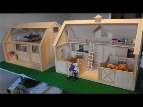 com dp games wood horse traditional large toys barn barns amazon breyer