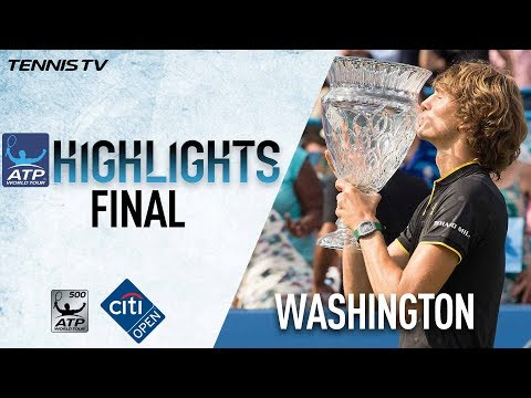 Highlights: Zverev Beats Anderson For Citi Open Title Washington 2017