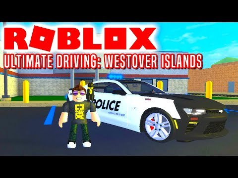 POLITIBETJENT COMKEAN! - Roblox Ultimate Driving Westover Islands Dansk Ep 1
