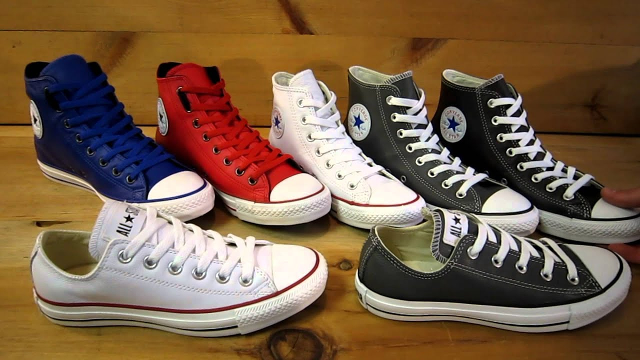 cfc9209fe56a Converse All Star Chuck Taylor Leather Pack 2012 - YouTube