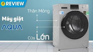 Máy giặt Aqua Inverter 9 KG: lồng lớn, có giặt nước nóng diệt khuẩn (AQD-D900F-S) • Điện máy XANH