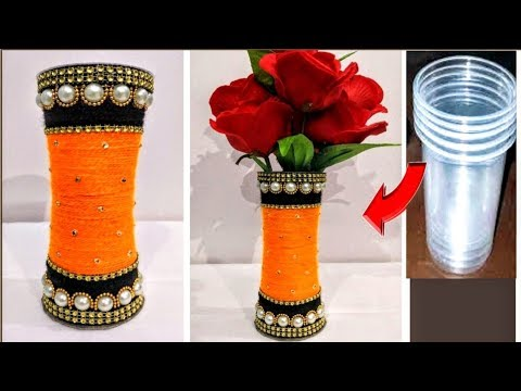 DIY/Flower Pot out of Disposable Plastic Glass/Best Out Of Waste Idea