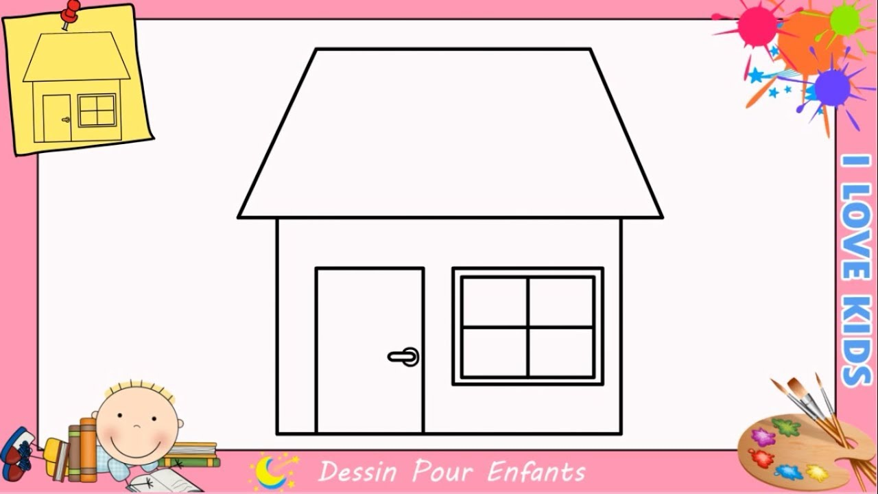 Dessin maison facile etape par etape comment dessiner for Etape de construction d une maison
