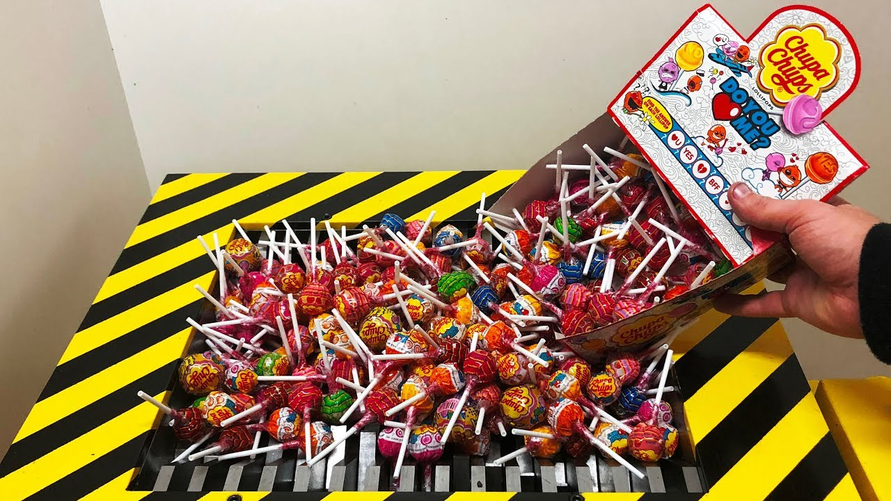Download EXPERIMENT Shredding 300 Chupa Chups LOLLIPOP
