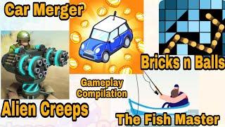 The Fish Master, Car Merger, Bricks N Balls, Alien Creeps Top 4 Games Android ios iCandyRich