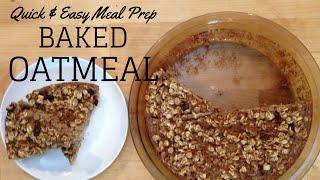 Easy Meal Prep Breakfast Idea: Baked Oatmeal Bars (gf, V)
