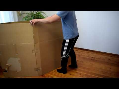 Домик для ребенка из коробки своими руками