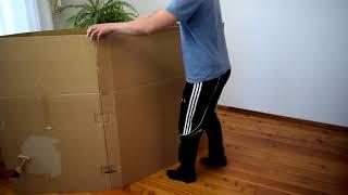 как сделать детский домик из картонной коробки. Children's house from a cardboard box