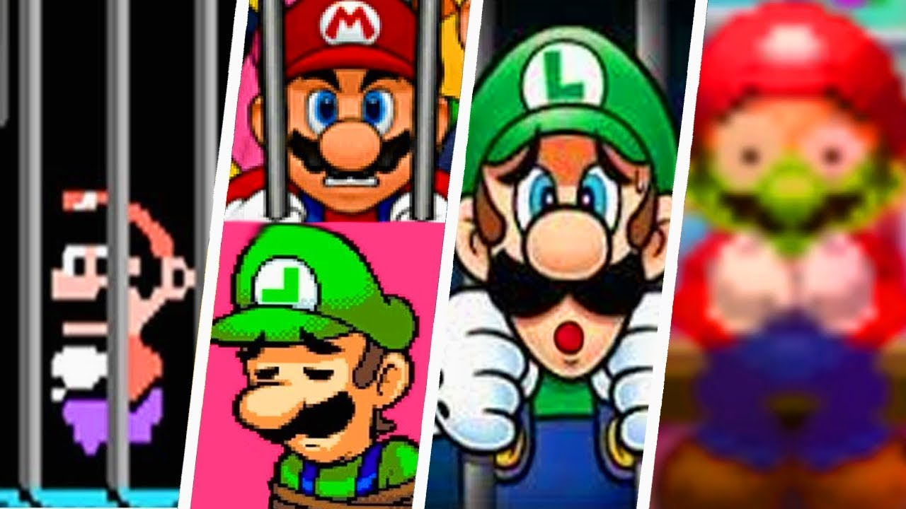 Download Evolution of Mario & Luigi Being Rescued (1992 - 2018)