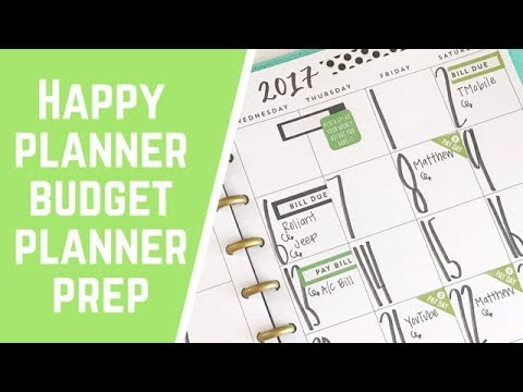 budget planner monthly setup youtube