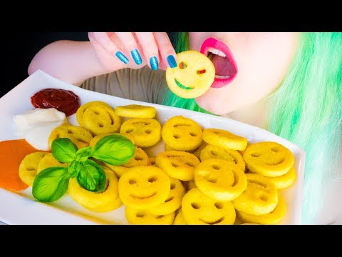 ASMR: Crunchy & Yummy Potato Smiley Fries ~ Relaxing Eating Sounds [No Talking|V] 😻