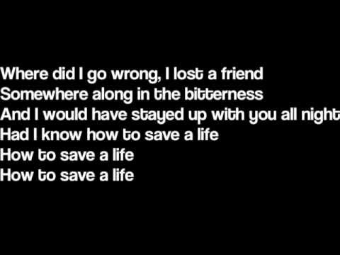How To Save A Life - The Fray (Lyrics) tab