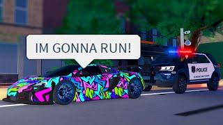 Crazy McLaren Runs From COPS! ARRESTED! (Roblox)