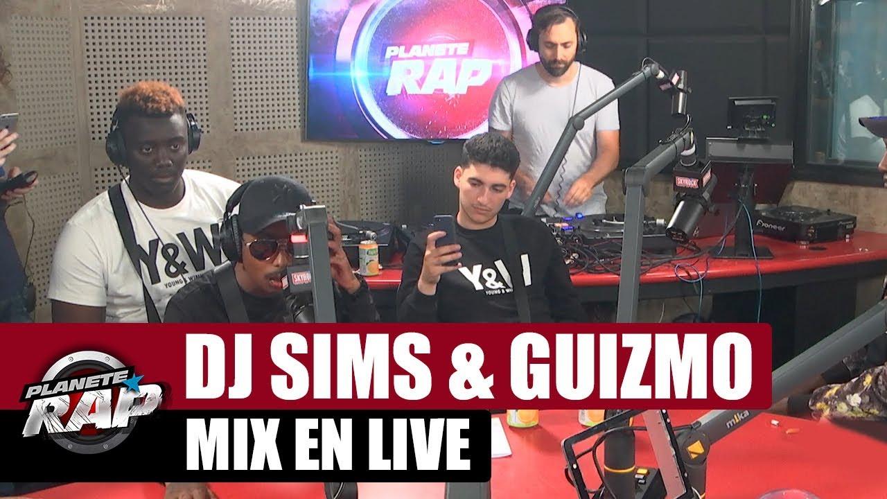 DJ Sims & Guizmo  - Mix en live #PlanèteRap