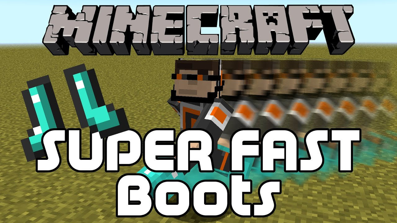 How to Make Super Fast Boots in Minecraft - YouTube