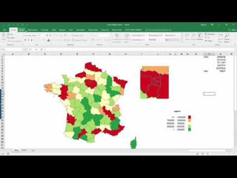 How to enlarge detailed parts of the map? Example for Excel Map