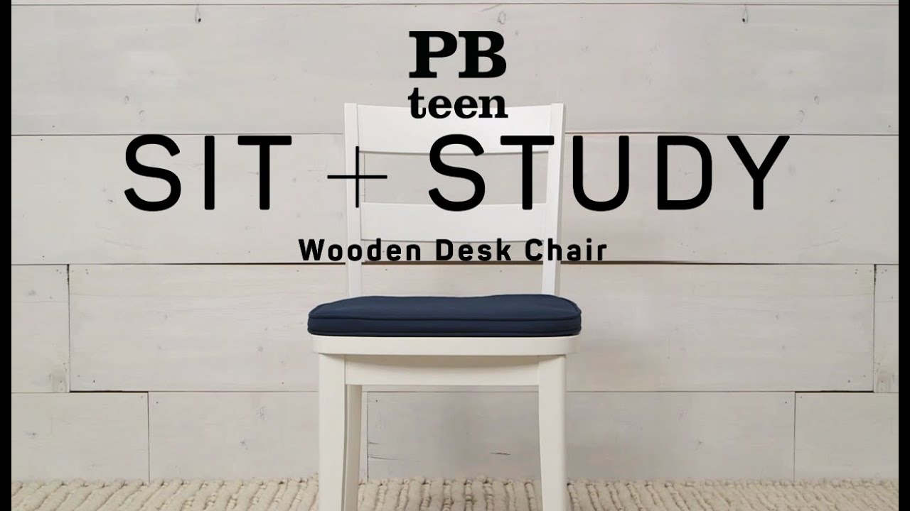 desk chair youtube parson chairs wooden sit study pbteen