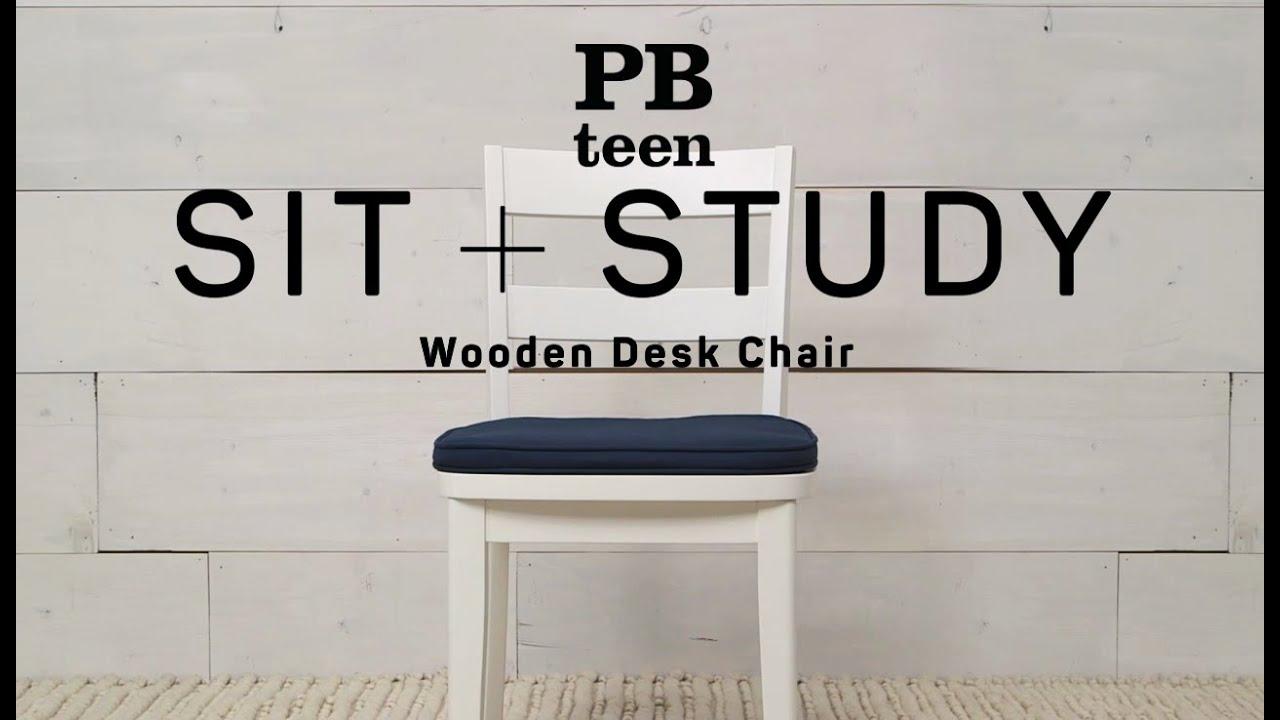 Wooden Desk Chair   Sit + Study | PBteen