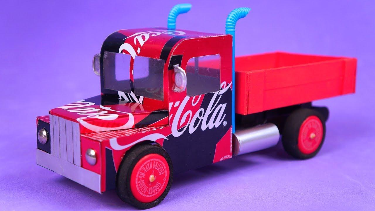 Increíble Camión Hecho Con Latas De Coca Cola Y Palillos Youtube