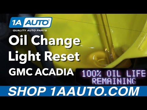 How to Change Oil and Reset Maintenance Light 07-16 GMC Acadia