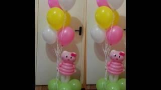Фигуры из шаров на день рождения(Это видео создано в редакторе слайд-шоу YouTube: http://www.youtube.com/upload., 2016-10-08T12:11:52.000Z)