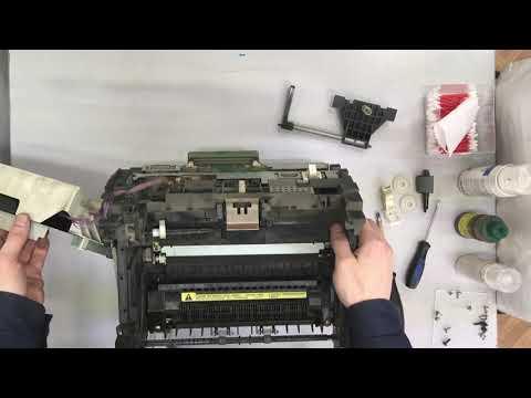 Ремонт принтера HP Laser Jet 1100. Замена тормозной площадки