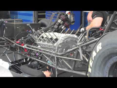 Ron capps funny car rebuild Seattle 2013 part 1.