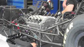 Ron capps funny car rebuild Seattle 2013 part 1.