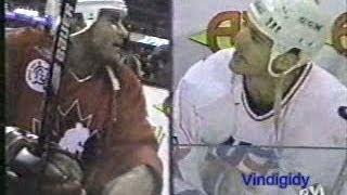 Lindros - Chelios trash talk - World Cup 9/12/96