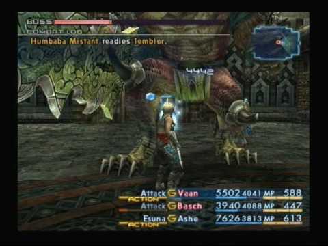 Final Fantasy 12 - Boss, Humbaba Mistant. - YouTube