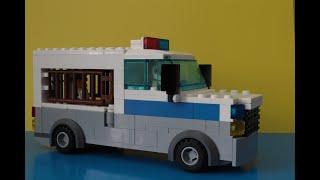 Как сделать полицейскую машину из лего  Полицейский фургон самоделка