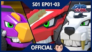 [Official] DinoCore | Series | Dinosaur Robot Animation | Season 1 Episode 1~3