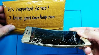 Restoration Destroyed Phone  - Samsung Galaxy A7 Crushed By Truck